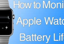 monitor iwatch battery
