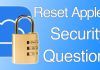 reset apple id security questions