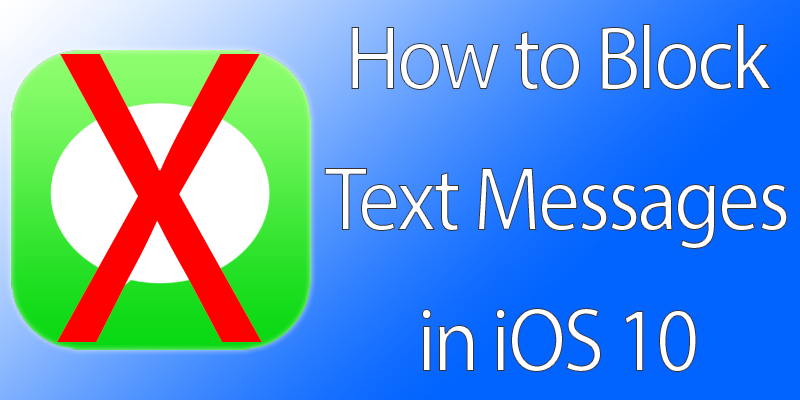 Block Text Messages on iPhone