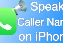 announce calls iphone