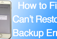 cannot restore backup