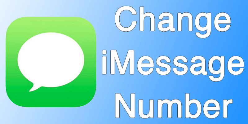 change imessage phone number