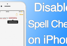 disable spell check