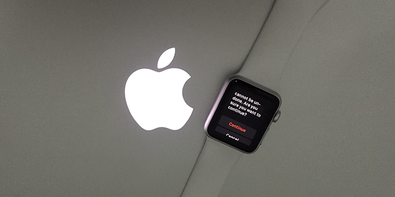 erase all content on apple watch