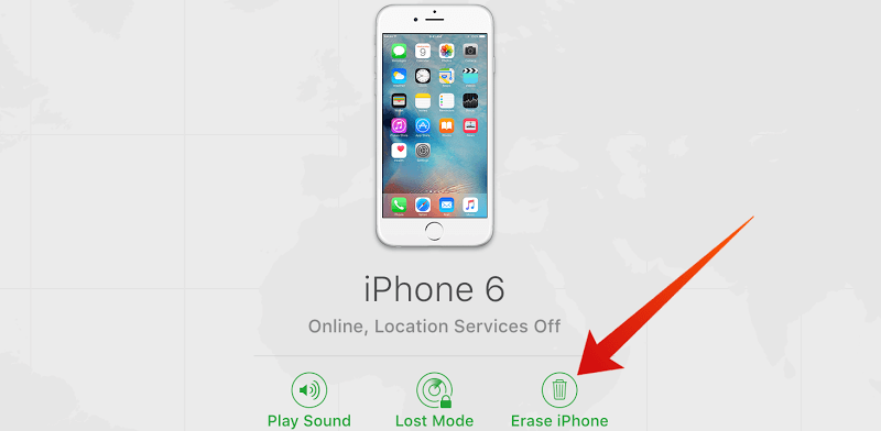 factory reset iphone without icloud password find my iphone