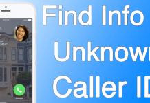 find unknown caller id