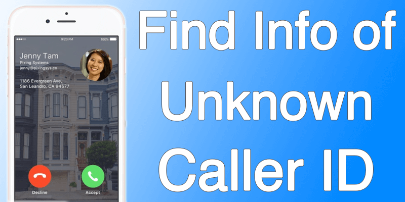 find unknown caller id on iphone