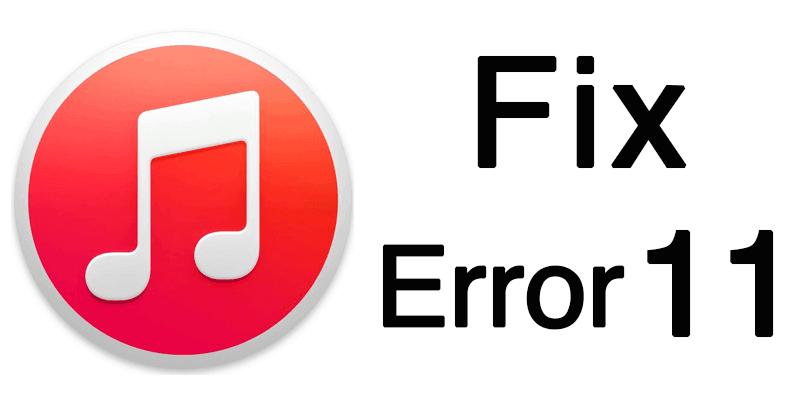itunes error 11