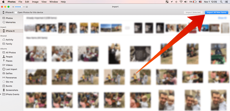 move photos from iphone to mac