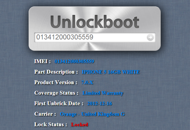 check iphone unlock status