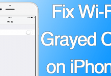 iphone wifi grayed fix