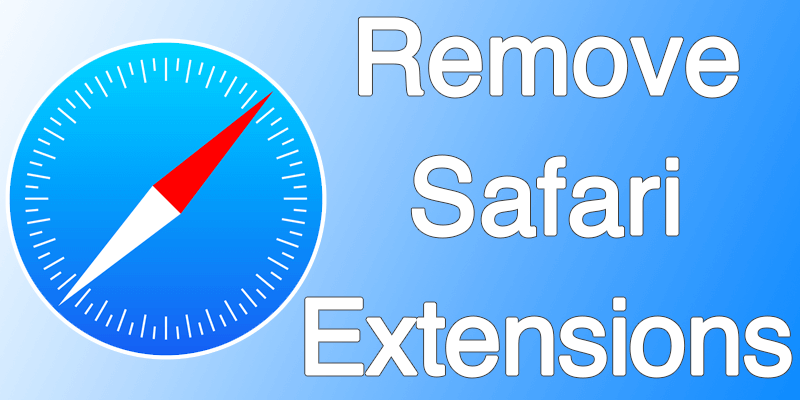 remove safari extensions