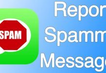 report imessage spam