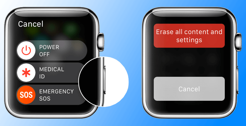 reset apple watch without iphone