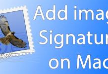 add image signature mac