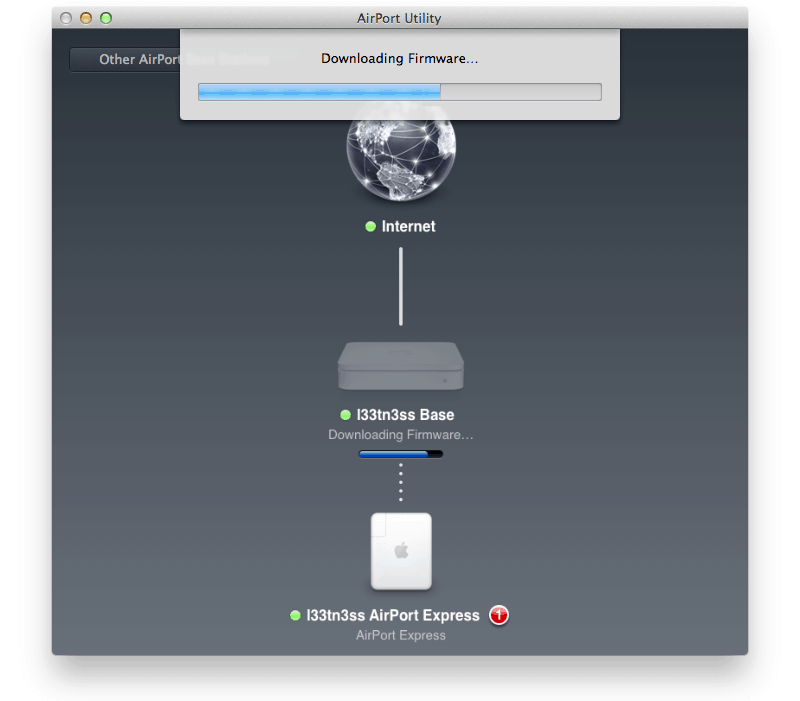 update airport firmware from mac