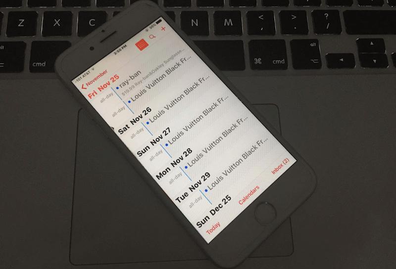 delete calendar events on iphone