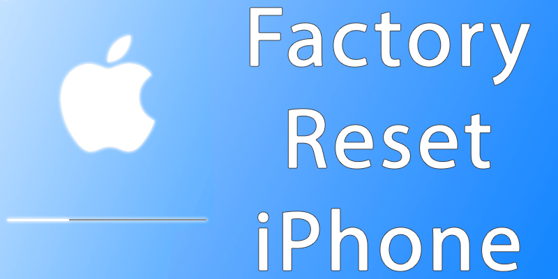 factory reset iphone