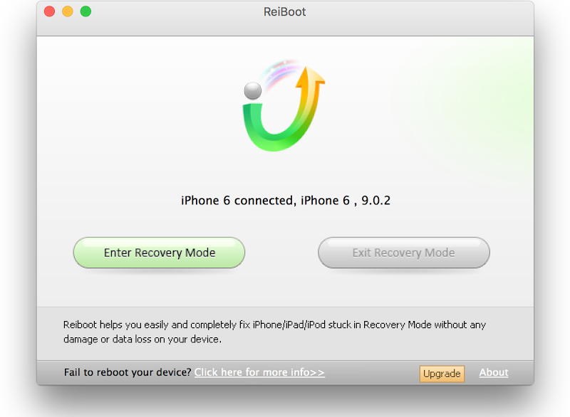 use reiboot enter recovery mode