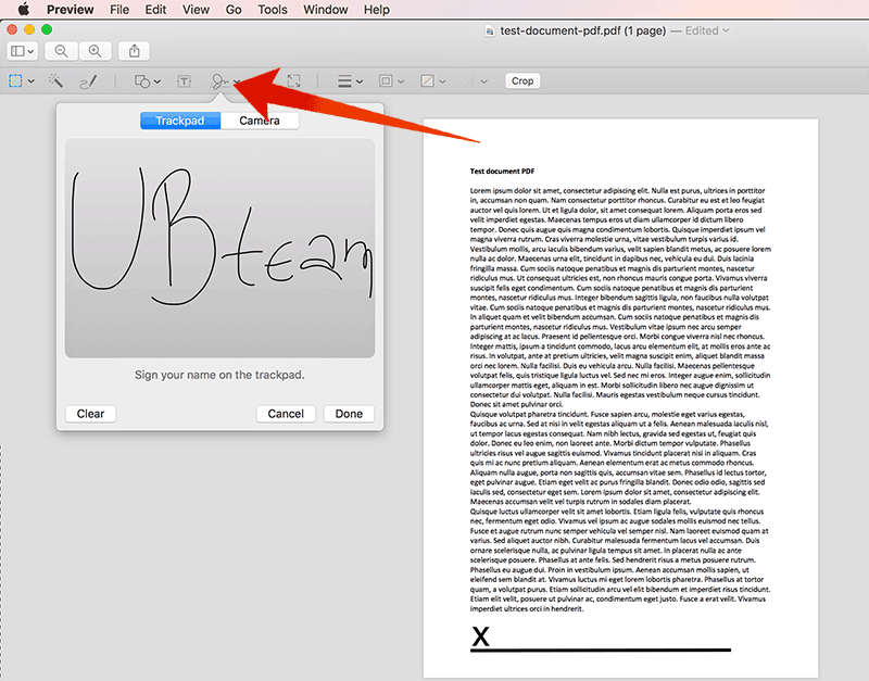 sign pdf document on mac