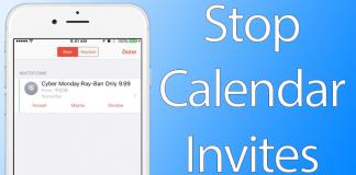 stop calendar invites