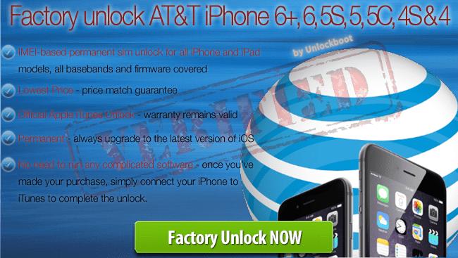 unlock at&t iphone 8