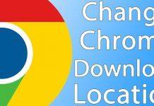 change chrome download folder