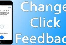 change click feedback