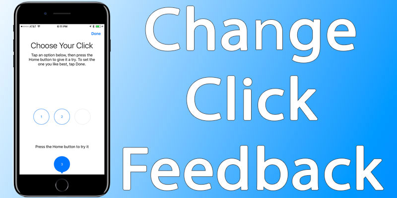 change home button click feedback
