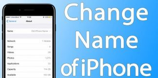 change iphone name
