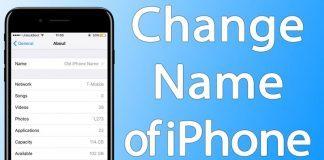 change iphone name