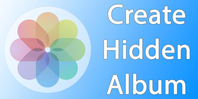 create hidden album on mac