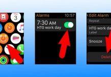 delete alarm iwatch