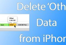 delete other iphone