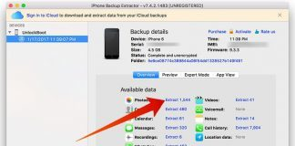 extract iphone backup