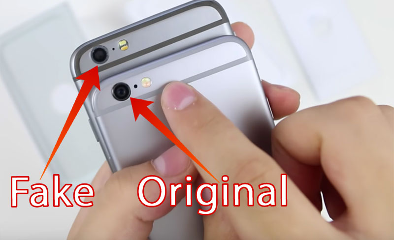 original iphone vs replica