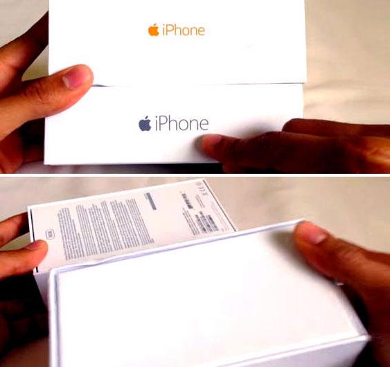 original box from iphone
