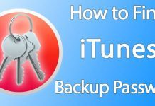 find itunes backup password