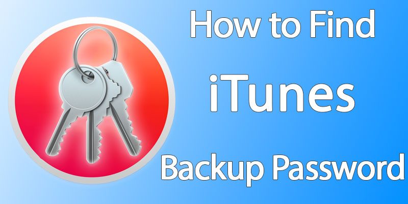 recover itunes backup password