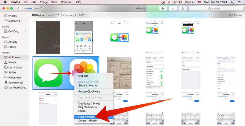 hide photos on mac