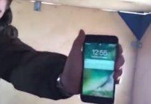 iphone  frozen lake