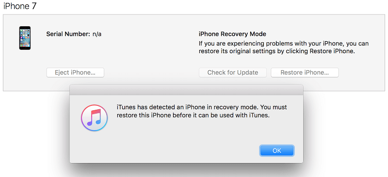 restore iphone 7 with itunes