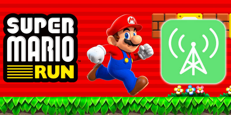 save cellular data mario run
