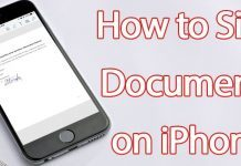 sign documents on iphone