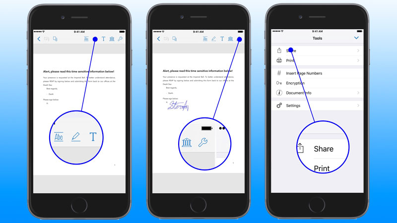 how to view pdf on iphone how to sign documents on iphone or 4806