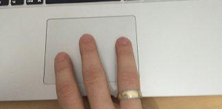 three finger drag mac