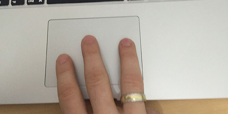 enable three finger drag gesture on mac
