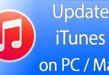 update itunes pc mac