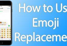 use emoji replacement iphone