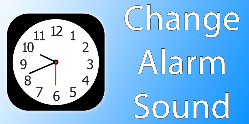 change alarm sound on iphone